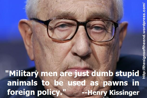 military men are just pawns in foreign policy